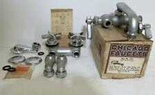Chicago Faucets New & vintage Faucet parts & accessories lot sink etc. Brass Usa