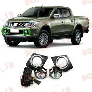 For Mitsubishi L200 Triton 2015-2018 With Low Halogen Front Bumper Fog Lamp
