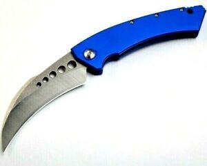 Karambit Claw Folding Knife Pocket Hunting Survival Combat Aluminum Alloy Handle