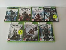 Assasins Creed 7 games bundle (Microsoft Xbox 360 & one) - PAL - with manuals