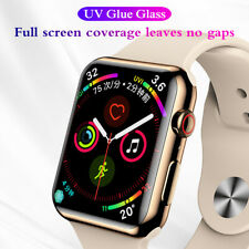 1x 9H Tempered Glass For Apple Watch 4 & 5 1 9/16in Curved UV Liquid Foil Screen