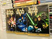 STAR WARS IV V VI - VECCHIA TRILOGIA DVD - In Italiano ORIGINALE 4 5 6