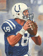 PEYTON MANNING COLTS ART PRINT