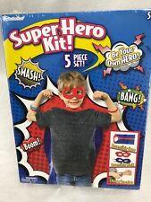 Super Hero Kit - 5 Piece Kit - Mask, Cape Wrist Bands - Kids Party