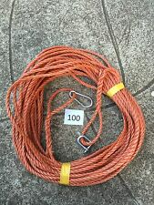 100 FT NEW 8MM ROPE. ReddIsh brown ANCHOR BOAT MOORING + SNAP HOOK & d shackle x