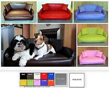 "XXL ZIPPY FAUX LEATHER SOFA DOG BED 5"" DEEP REFLEX MATTRESS - WIPE CLEAN FABRIC"
