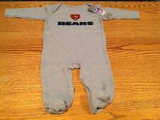 Chicago Bears Nfl Gray Thermal Bodysuit Sleeper Size 0-3 months - Nwt