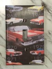 'New!' LARGER SIZE! Classics Cars - Light Switch Cover - Single Toggle