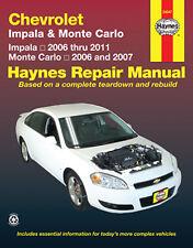 Haynes 24047 Service Repair Manual Chevrolet Impala 06-11 & Monte Carlo 06 & 07