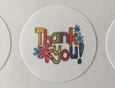"63 Thank You with Flowers!!! ENVELOPE SEALS LABELS STICKERS 1"" Round"