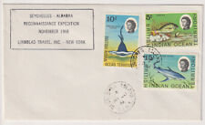 B.I.O.T.  1968: unaddressed cacheted cover mailed from DESROCHES ISLAND