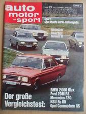 AUTO MOTOR UND SPORT 13- 22.6. 1968 Siata 850 Spring GP-Monaco Hill Indianapolis