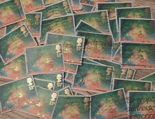 600 x UK British Christmas used postage stamps off paper one design decoupage