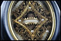 † ST MARY MAGDALENE + BISHOP 19TH V.H.M. RELIQUARY PEARLS 5 RELICs FRANCE †