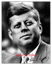 John F. Kennedy Signed Preprint Autograph 8x10 photo