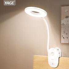 18650 Rechargeable 18pcs LED Desk Lamp USB Charger Hose Clip Table Lamps 3 Modes