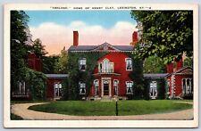 Ashland the  Henry Clay House in Lexington, Kentucky Linen Postcard Unused