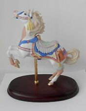 1991 Lenox Rearing Carousel Horse Figure~Feathers, Arrows, Floral Saddle