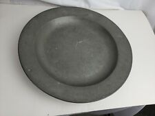 Great antique marked pewter plate, 19th C. Germany