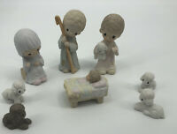 "Precious Moments 1979 Nativity Set E-2800 ""Come Let Us Adore Him"" 8 Piece Set"