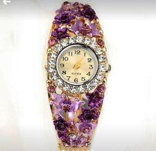 Antique beautiful ladies Crystal Decorative QUARTZ Watch, PINK color