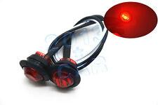 """2pcs 3/4"""" LED Marker Lights LED Truck Trailer Clearance Indicator Lights Red 12V"""