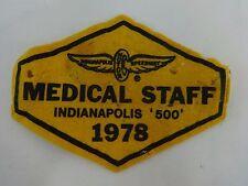 1978 Indianapolis Motor Speedway Medical Staff Armband Indy 500 IndyCar Cart