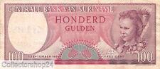 Suriname 100 Gulden 1963 Zf Pn 123 serial UW030553