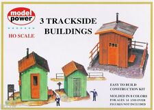 HO 3 TRACKSIDE BUILDINGS  KIT FOR TRAIN LAYOUTS #437  BY MODEL POWER