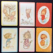 Swap Playing Cards - CUTE Children - Betsey Clark  - 6 Cards  ONLY 3 SETS AVAIL