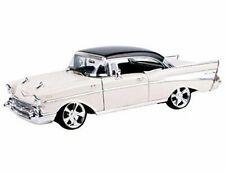 1957 Chevrolet Bel Air Hard Top Cream With Custom Wheels 1/18 Diecast Model C...
