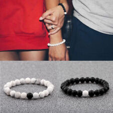 Fashion Couple His & Hers Distance Bracelets Lava Bead Matching YinYang Jewelry