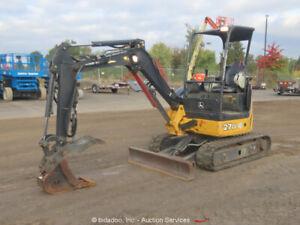 2015 John Deere 27D Mini Excavator Trackhoe Hydraulic Thumb Blade Aux bidadoo