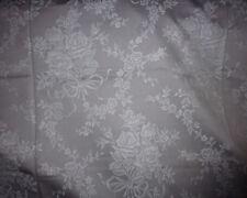 ancien tissu textile coutil toile matelas damas gris bouquet rose noeud 100x200