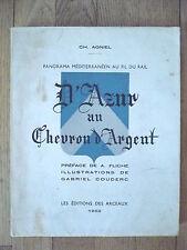 Charles Agniel, D'Azur au chevron d'argent.
