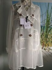 Red Valentino Coat Size 8 10 White Ivory Lace Trench Wedding Races Prom Bride