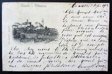 Cartolina viaggiata 1908 CANELLI - VILLANOVA Asti