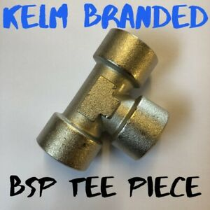 BSP Tee piece fittings Female thread compressor air water oil fuel