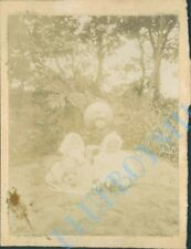 3 Edwardian Children In Garden West kirkby Edwardian Photo 4 x 3 inch