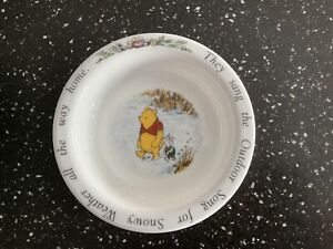 Royal Doulton. Disney Winnie the Pooh Bowl. Song for Snowy Weather. Childs Bowl.
