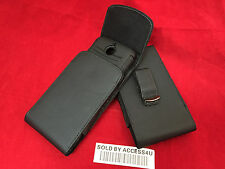 VERTICAL LEATHER CASE HOLSTER BELT CLIP POUCH FOR SAMSUNG GALAXY NOTE 5 ARMOR ON