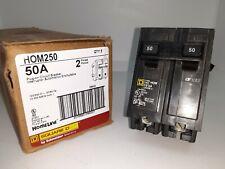 Square D Hom250 50 Amp 2 Pole 120240v Circuit Breaker New