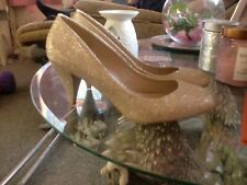 Dorothy Perkins  court shoes UK 8 Champagne Gold Cava Court Shoes