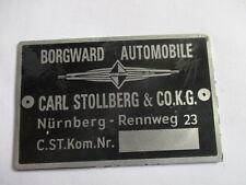Borgward Vendedor Carl Stollber Nurenberg Placa De Características Placa S29