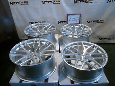 "22"" Concave Silver Mesh Mercedes 2007-15 S400 S550 S63 S65 Stagger Wheels W612B"