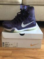 Nike Kobe X 10 Elite High 718763-505 Purple Ink Persian Violet Silver Size 10.5