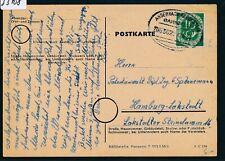 33708) Bahnpost Ovalstempel Andernach - Gerolstein ZUG 362(?) Karte 1954