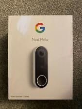 GOOGLE Nest Hello NC5100GB Smart Wi Fi Video Doorbell
