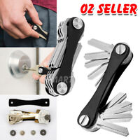 10 Keys KeySmart Genie Compact Key Holder Organiser Pocket Size Ring Aluminium