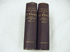 New listing The Life and Works of St Paul F.W. Farrar 2 Volume Set 1800's